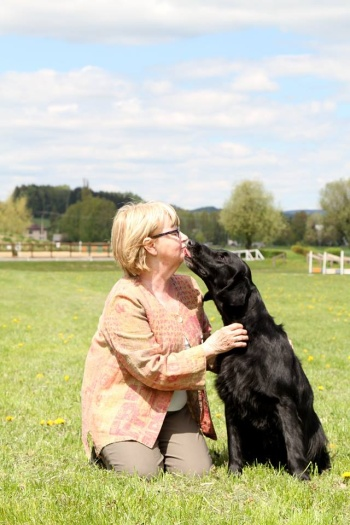 Flat Coated Retriever O´Flanagan Hur mas Det and  Lena Hägglund